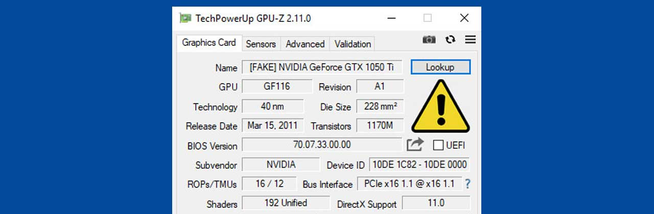 Latest GPU-Z Software Update Now Can Detect Fake Graphic Cards